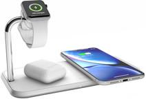 ZENS Dual & Apple Watch Chargeur sans fil en Aluminium 10 W Blanc