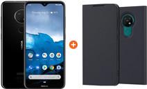 Nokia 6.2 Zwart + Nokia Slim Entertainment Book Case Zwart