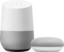 Google Home + Google Nest Mini Wit