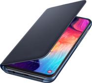 Samsung Galaxy A50 Wallet Book Case Zwart/Blauw