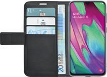 Azuri Wallet Magneet Samsung Galaxy A40 Book Case Zwart