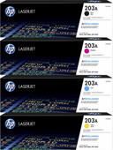 HP 203A Toner Cartridge Combo pack 4 Colors