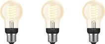 Philips Hue Ampoule standard à filament White E27 Bluetooth Lot de 3
