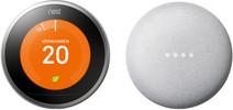 Nest Learning Thermostat V3 + Google Nest Mini Wit