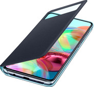 Samsung Galaxy A71 S View Book Case Zwart
