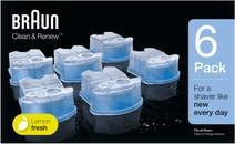 Braun reinigingsvloeistof Clean & Renew cartridges (6 stuks)