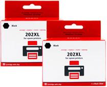Pixeljet 202XL Lot de 2 Noir pour imprimantes Epson (C13T02E14