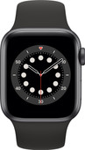 Apple Watch Series 6 40mm Space Gray Aluminum Black Sport Band