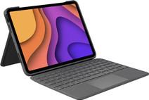 Logitech Folio Touch Apple iPad Air (2020) Toetsenbord Hoes AZERTY Grijs