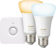 Philips Hue White Ambiance E27 Bluetooth Lot de 2 + Philips Hue Détecteur de Mouvement