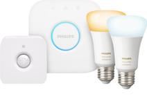 Philips Hue White Ambiance E27 Bluetooth Lot de 2 + Philips Hue Détecteur de Mouvement + B
