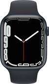 Apple Watch Series 7 45mm Nachtblauw Aluminium Zwarte Sportband