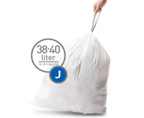 Simplehuman Waste bags Code J - 38-40 Liter (60 pieces)
