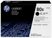 HP 80X LaserJet Toner Noir Dual Pack (CF280XD)