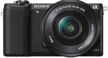 Sony Alpha A5100 + 16-50mm + 55-210mm zwart