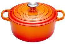 Le Creuset Round Casserole 26 cm Orange-red