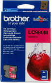 Brother LC-980M Magenta Ink Cartridge (Red)