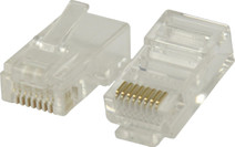 Valueline UTP CAT6 Network Plug Transparent 5 units