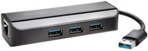 Kensington UA3000E USB 3.0 Ethernet Adapter & 3-Port Hub