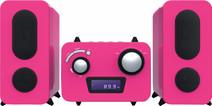Bigben Microset Radio/Lecteur CD Rose