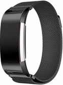 Just in Case Fitbit Charge 2 Bracelet de montre Milanais Noir