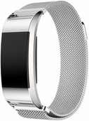 Just in Case Fitbit Charge 2 Bracelet de montre Milanais Argent