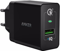 Anker PowerPort+1 Chargeur sans Câble 18 W Quick Charge 3.0 Noir