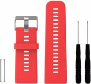 Just in Case Bracelet sportif en Silicone pour Garmin Vivoactive HR Rouge