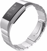 Just in Case Stainless Steel Polsband Fitbit Charge 2 Zilver