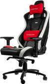 Noblechairs EPIC Real Leather Black/White