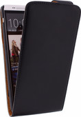 Xccess Leather Flip Case for HTC One Max Black