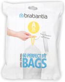Brabantia Dispenser Pack Waste Bag A - 3 Liter (60 pieces)