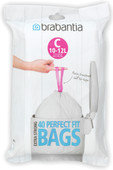 PerfectFit waste bag with drawbands closure code C, 10-12 liters, 40 pieces / dispenser pa