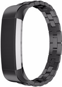 Just in Case Premium Chain Stainless Steel Wristband Fitbit Alta Black