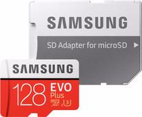 Samsung microSDXC Evo+ 128 GB 100MB/s CL 10 + SD adapter
