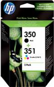 HP 350/351 Cartridge Zwart + Combo Pack 3-Kleuren (SD412EE)
