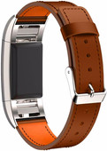 Just in Case Leather Watch Strap Fitbit Charge 2 Light Brown