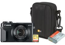 Kit de démarrage - Canon Powershot G7 X II + Carte mémoire + Sac + Batterie supplémentaire