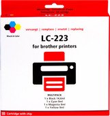Pixeljet LC-223 4-Color Pack for Brother printers