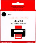 Pixeljet LC-223BK Cartridge Black for Brother printers