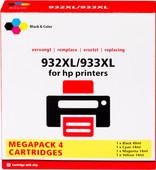 Pixeljet 932/933 Cartridge 4-Kleuren XL voor HP printers (C2P42AE)