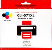 Pixeljet CLI-571 XL 4-Kleuren Pack voor Canon printers