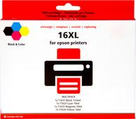 Pixeljet 16 XL Lot de 4 couleurs pour imprimantes Epson (C13T16364010)