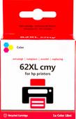 Pixeljet 62XL Cartridge 3 Kleuren voor HP printers (C2P07AE)