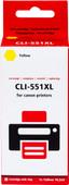 Pixeljet CLI-551XL Jaune pour imprimantes Canon (6446B001)