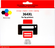 Pixeljet 364 Cartridge 4-Color XL for HP printers (J3M83AE)