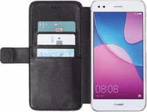 Azuri Coque à Rabat Portefeuille Magnétique Huawei Y6 Pro (2017) Noir