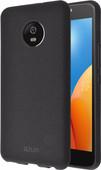 Azuri Flexible Sand Motorola E4 Plus Back Cover Zwart