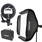 Godox S-type Bracket Bowens comprenant Softbox 40x40cm