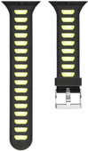 Just in Case Silicone Watchband Apple Watch 38mm Black / Yellow